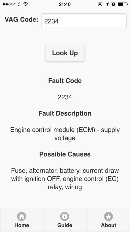 OBD/Manufactures Trouble Codes(Fault Codes)