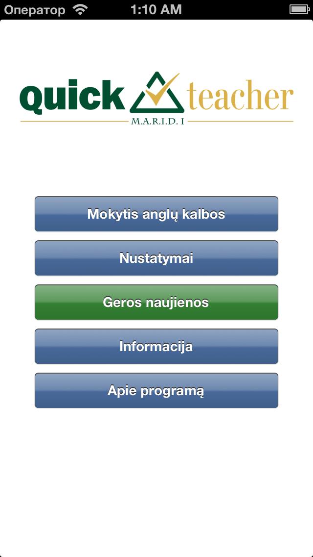 QuickTeacher Anglų kalba screenshot one