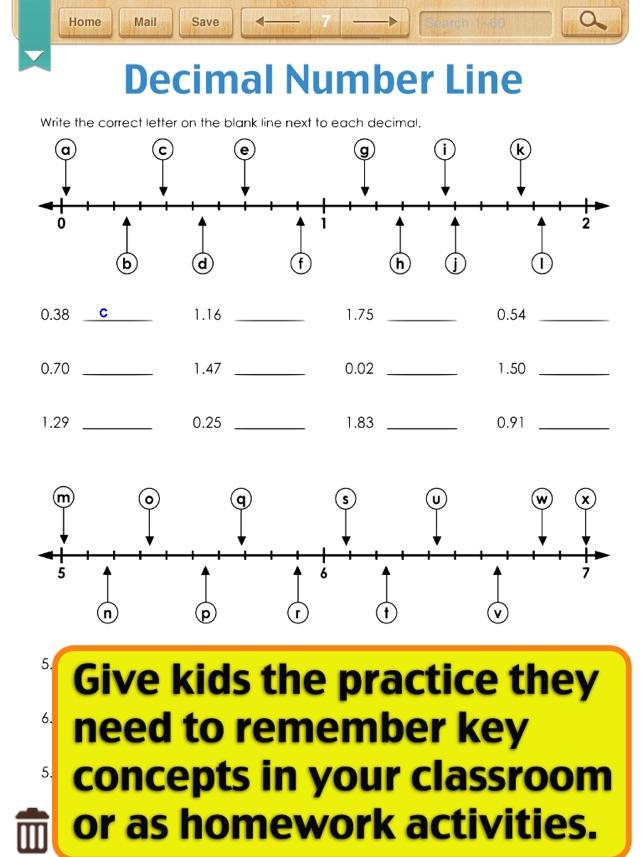 Decimal Worksheets decimal worksheets grade 5 : Kids Math-Decimal Worksheets(Grade 4) on the App Store