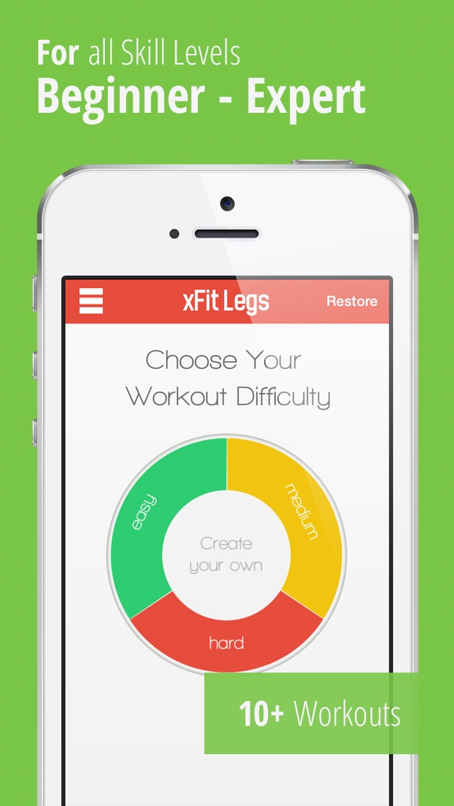 xFit Legs – Daily Workout for Tight Sculpted Thighs, Calves and Muscles screenshot two
