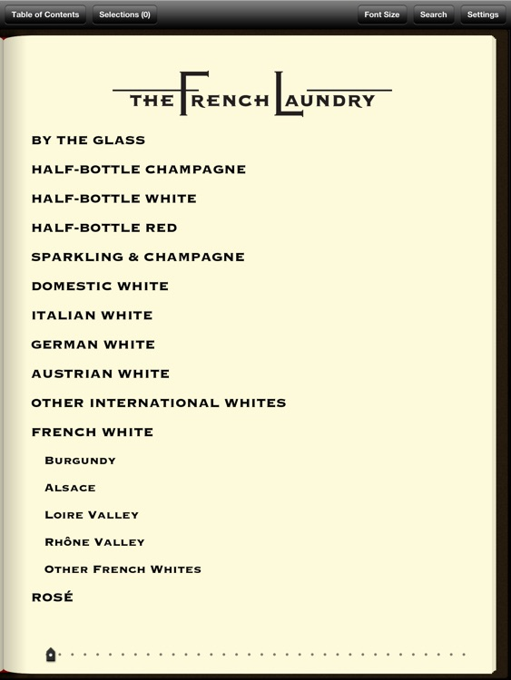 The French Laundry Wine List