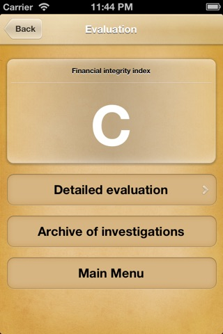 Screenshot of Detective Audit