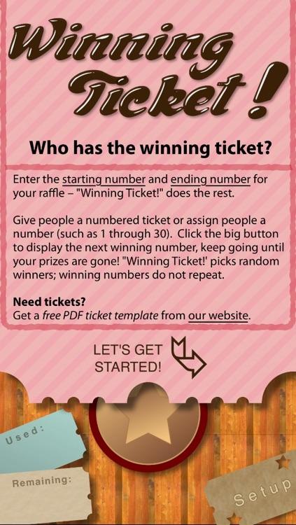 Winning Ticket!