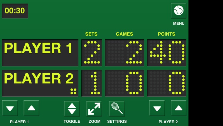 Game Set Match Tennis Scoreboard screenshot-3