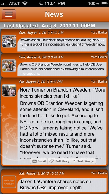 Cleveland Football Live screenshot-1