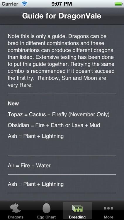 Breeding Guide for DragonVale+ screenshot-3