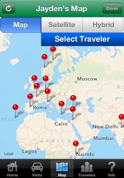 Countries Visited • World Travel Log screenshot-4