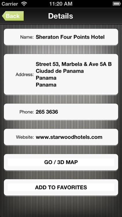 Panama GPS Map screenshot-3