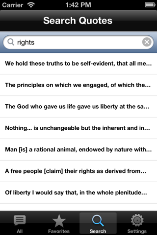 Thomas Jefferson QuickQuotes Lite screenshot 3