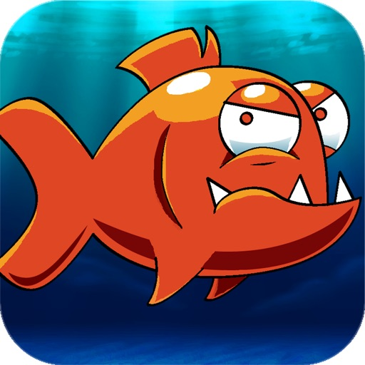 Mega Piranha Revenge - Go chase and hook the hungry big piranha fish moving around the real sea world