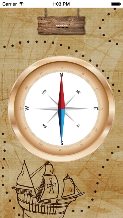 Pirate Magnetic Compass