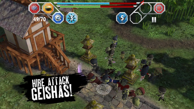 Finger Ninjas: Zombie Strike-Force screenshot-2