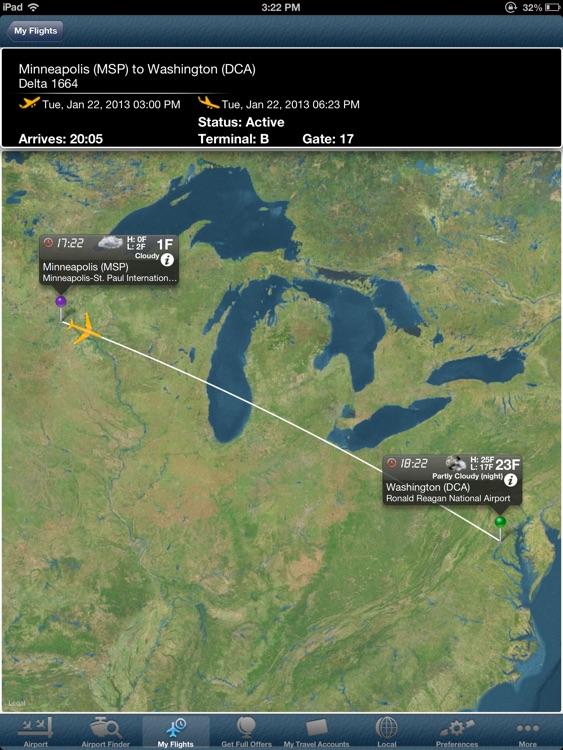 Washington Reagan National Airport DCA+Flight Tracker HD