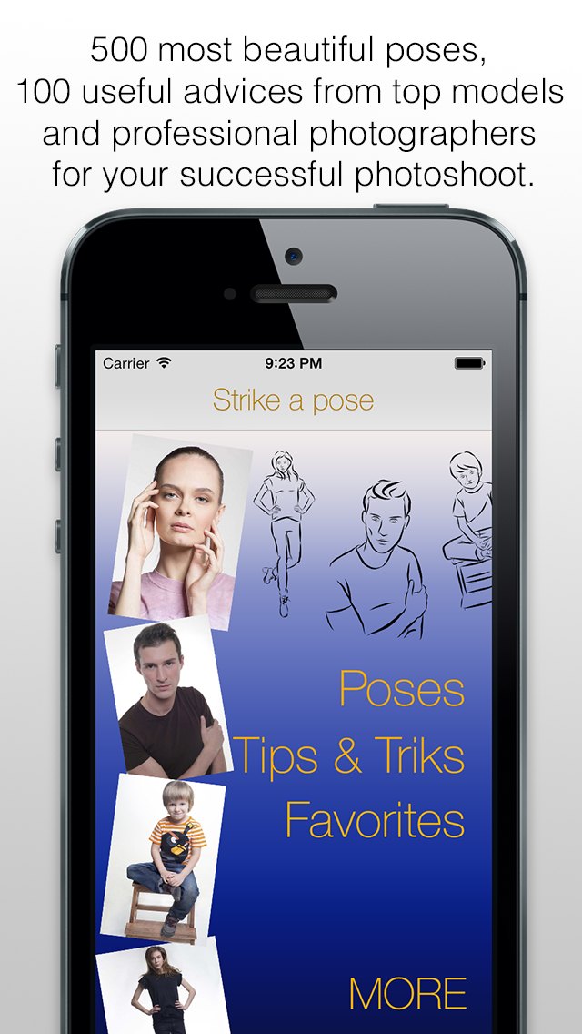 Strike a pose - posing guide or photo posing tutorial for photographer and fashion modelのおすすめ画像1