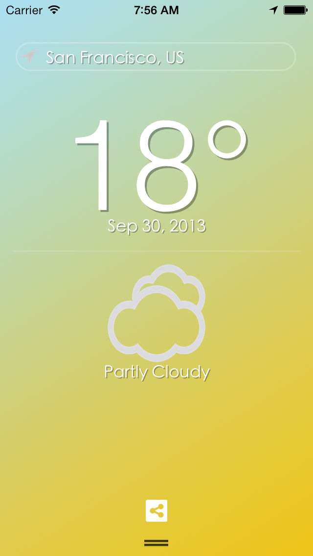 My Weather : The weather around me much more easily !のおすすめ画像1