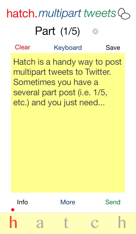 Hatch: Multipart Tweet Composer screenshot-1