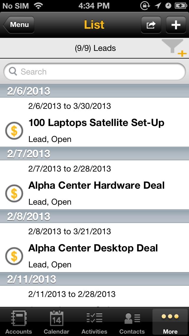 SAP Sales Managerのスクリーンショット5