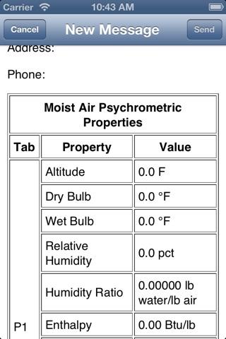 Screenshot of HVAC Buddy® Psychrometric