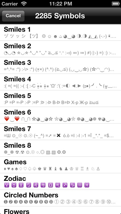 Special Symbols for Facebook, Twitter, Texts & Email: Glam Edition screenshot-3