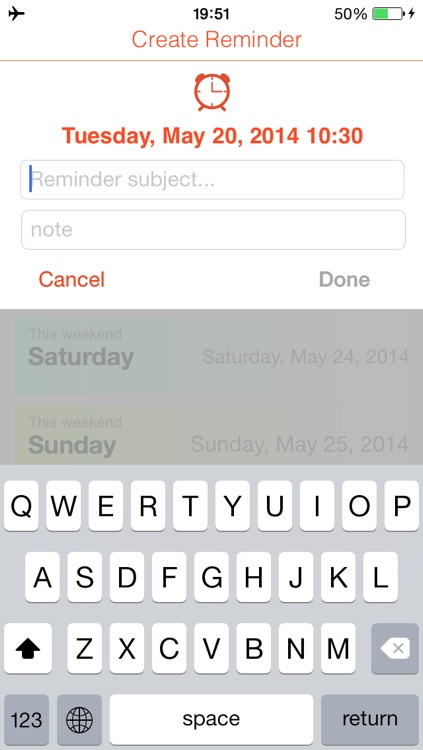 Quick Reminders: Super fast way to create a reminder