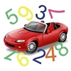 Count cars on the street icon