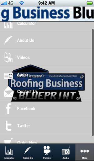 App store blueprint roofing calculator for Blueprint estimator