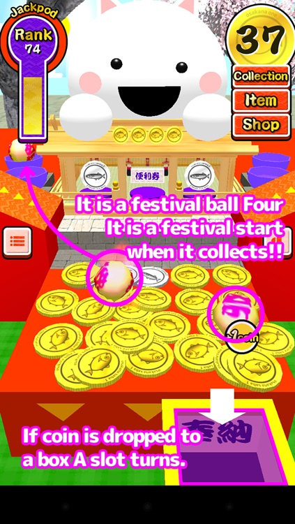 Festival coins (free dropping coin game) screenshot-3