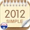 2012 Australia Calendar : Simple