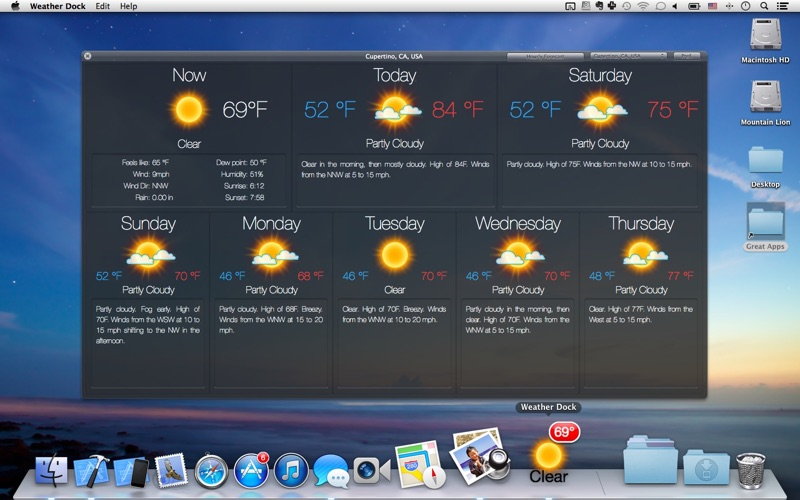 Screenshot #4 for Weather Dock: Desktop forecast