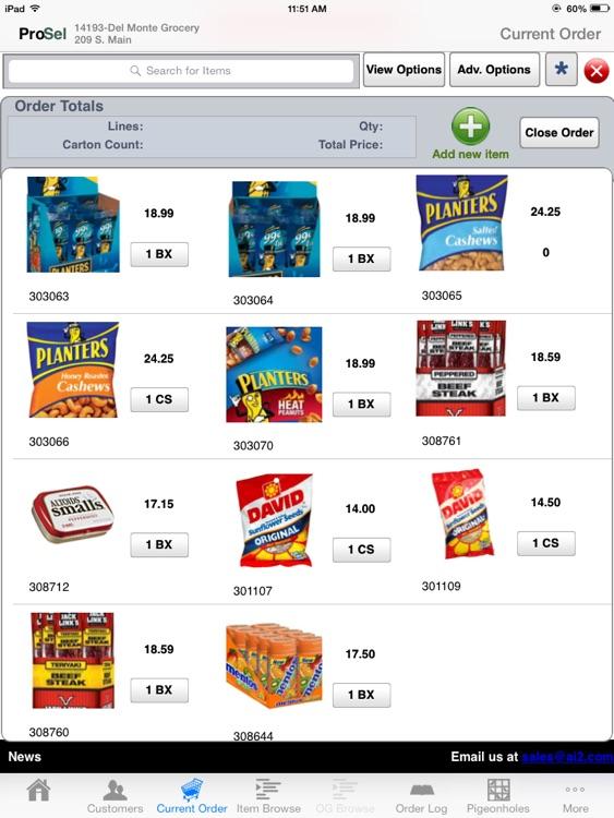 ProSel Sales Rep Order Entry & Catalog Management