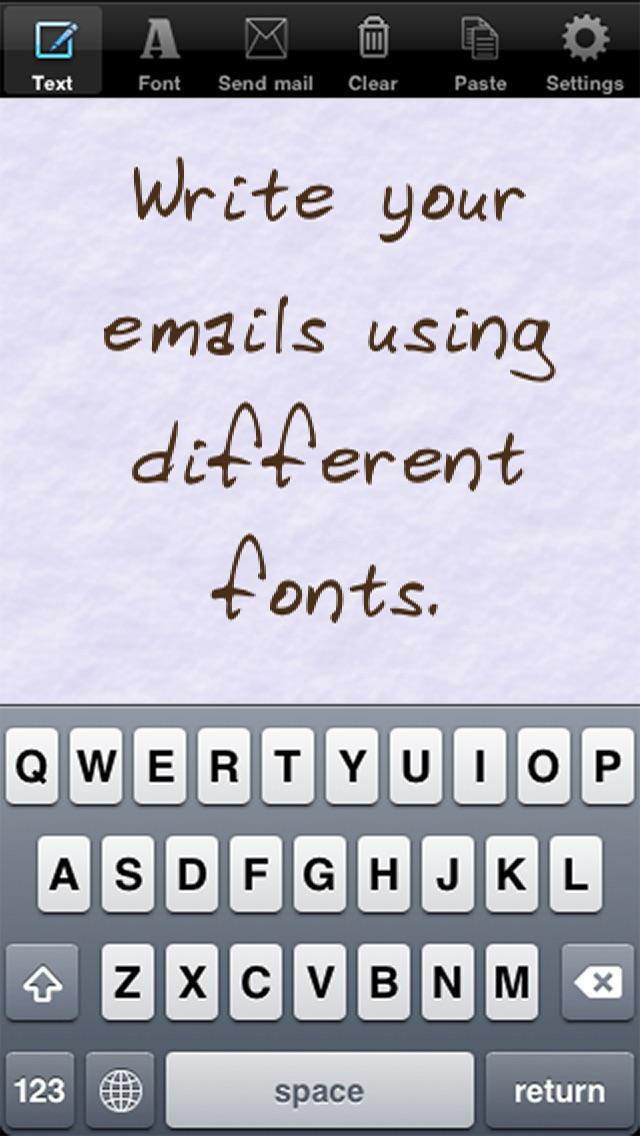手書きメール screenshot1