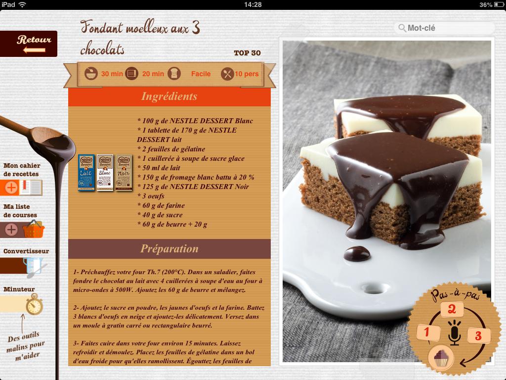 Nestlé Dessert for iPad Screenshot