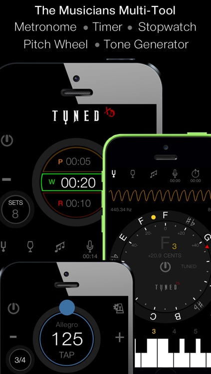 Tuned XD - Singers & Guitarists Tuner + Multitool