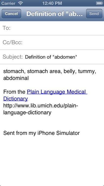Plain Language Medical Dictionary screenshot-4