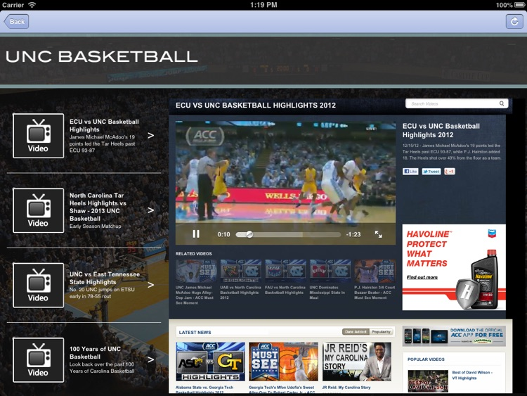 UNC Hoops Fan for iPad screenshot-4