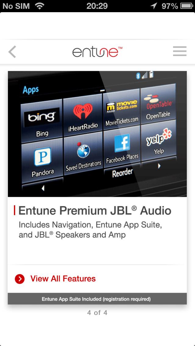 Entune Audio Simulator - App - iOS me