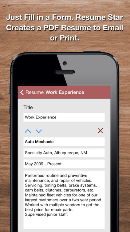 Resume Star: Pro CV Maker and Resume Designer with PDF Output to Help You Score that Job Interview and Advance your Career screenshot-3