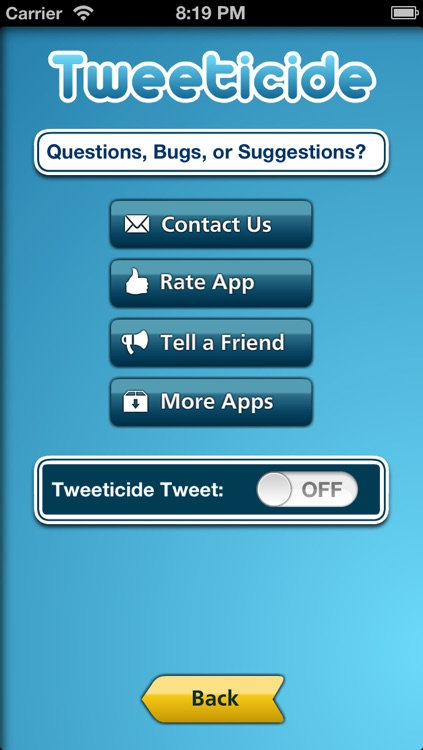 Tweeticide - Delete All of Your Twitter Tweets at Once! screenshot-3