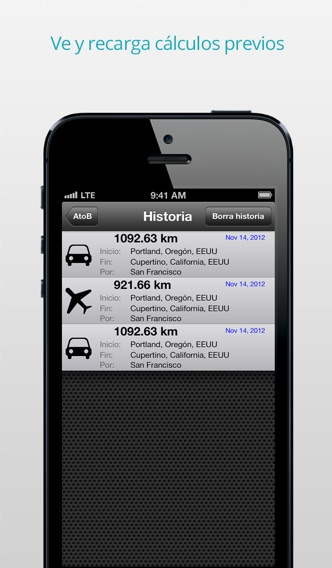 download AtoB Calculadora de Distancia Gratis—fácil y rápida medida de rutas en aire o en coche desde punto A hasta punto B para viajes y más apps 3