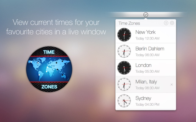 Time Zones Screenshot