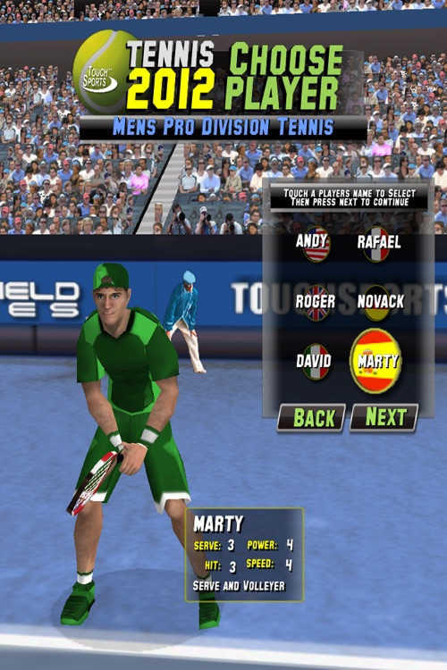 TouchSports Tennis 2012 screenshot-3