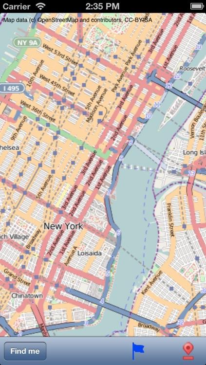 New York Street Map.