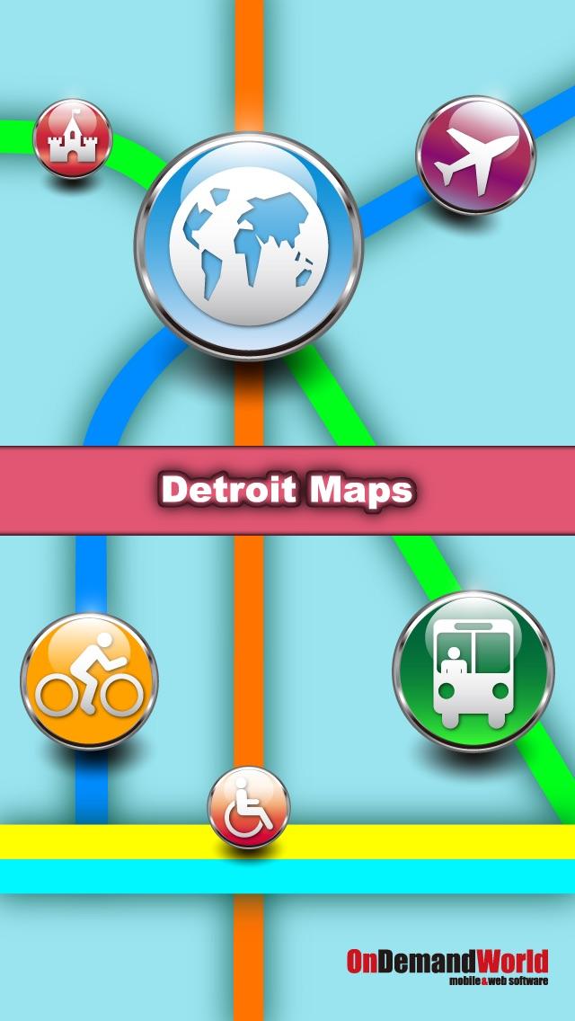 【旅行必备】 底特律(美国)地图  Detroit Maps - Download Smart Bus Maps and Tourist Guides.