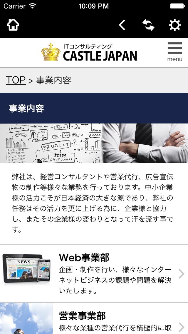 IT・総合コンサルティング 株式会社キャッスルジャパンのスクリーンショット3
