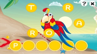 農行海盜!兒童遊戲: 學習 寫文字,並與海盜,船長,鸚鵡,百寶箱,鱷魚和船舶在海洋中的字母。免費,新,學習,幼兒園,學前班和學校!屏幕截圖4