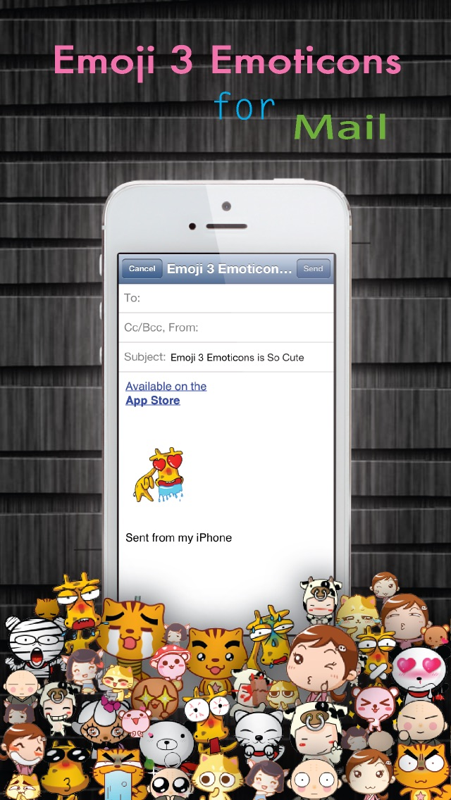 Emoji 3 Emoticons for LINE, Kik, WeChat, Twitter, BBM, Zoosk & Facebook Messenger - Free Emoji Keyboard with Pop Emojis & Emoticon icons Animation Emoji - Lite Version-4