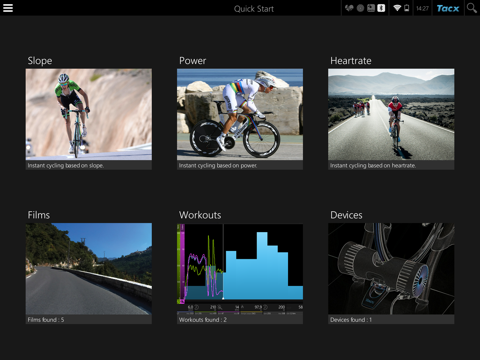 Tacx Cycling app screenshot one