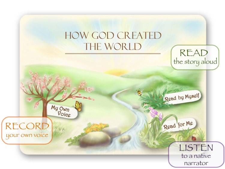 Bible Stories for Children - How God Created The World HD screenshot-0