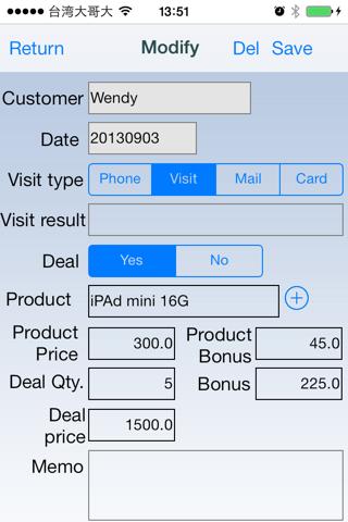 Screenshot of Sales Assistant Free