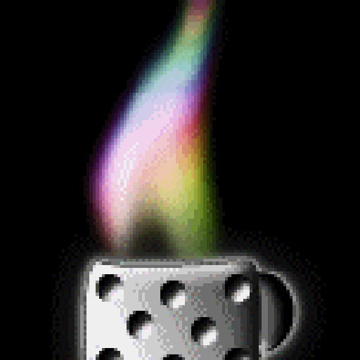 multi color concert lighter with lightning icon